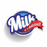 Milk label lettering Royalty Free Stock Images