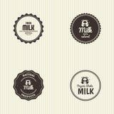 Milk label Stock Photography