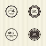 Milk label Royalty Free Stock Photos