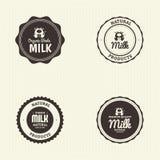 Milk label Stock Image
