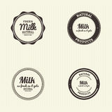 Milk label Royalty Free Stock Photography