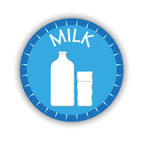 Milk label with shadow  Stock Photography