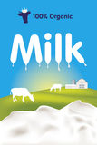 Milk label vector Royalty Free Stock Image