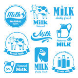 Milk Labels Stock Photography