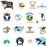 Milk Labels, elements and icons Royalty Free Stock Photos