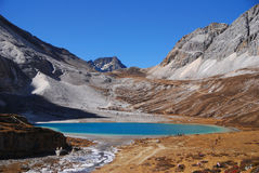Milk Lake Seen from Higher Level Stock Image