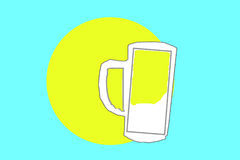 Milk in a mug energy source Stock Images