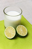 Milk and lime Royalty Free Stock Image