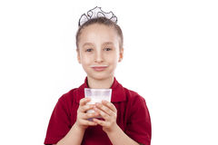 With milk Royalty Free Stock Photography