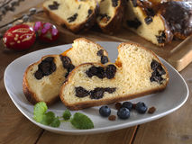 Milk loaf with dried plum Royalty Free Stock Photos