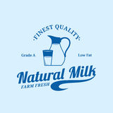 Milk Logo Template and Design Elements. Milk logo template. Milk label with sample text. Milk icon for groceries, agriculture stores, packaging and advertising Stock Images