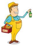 Milk man. Illustration of a milk man cartoon Royalty Free Stock Image