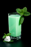 Milk and mint Stock Images