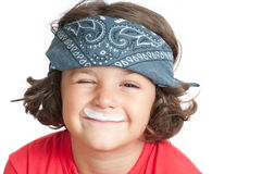 Milk Moustache Stock Image