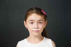 Milk Moustache Royalty Free Stock Photography