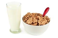 Milk and muesli Stock Photography