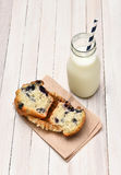 Milk and Muffin Royalty Free Stock Photos