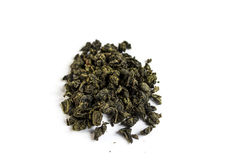 Milk oolong green tea isolated on white background Stock Photography