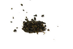 Milk oolong green tea on white background Royalty Free Stock Images