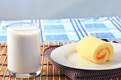 Milk and Orange cake. Royalty Free Stock Images