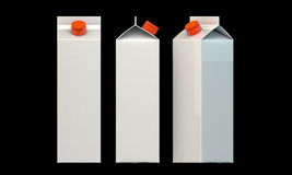 Milk package Stock Photography