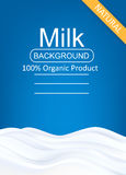 Milk Package Template Royalty Free Stock Photography