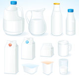 Milk packages royalty free stock images