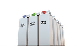 Milk packages Royalty Free Stock Photo