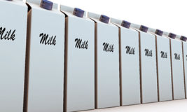 Milk packages Royalty Free Stock Photography