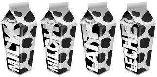 Milk packaging - Emballages de lait - Milch-Verpac Stock Images