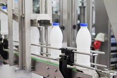 Milk packing machine Stock Photos