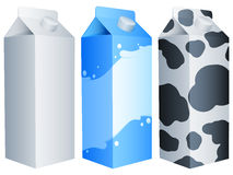 Milk packs. Royalty Free Stock Images