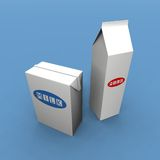 Milk packs Royalty Free Stock Photos