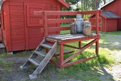 Milk pail Stock Image