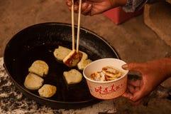 Milk Pancake Pieces Stock Photography