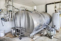 Milk Pasteurization Tank Stock Images
