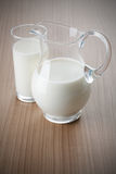 Milk in pitcher Stock Image