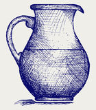 Milk pitcher. Doodle style. Vector EPS 8 Royalty Free Stock Image