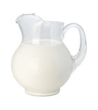 Milk Pitcher (with clipping path) Stock Image