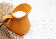 Milk in pitcher Royalty Free Stock Photos