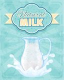 Milk pitcher poster Stock Photo