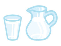 Milk and Pitcher Royalty Free Stock Photos