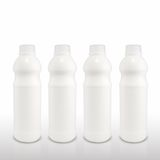 Milk in plastic bottles, Healthy drinks Royalty Free Stock Images