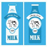 Milk poster Royalty Free Stock Photos