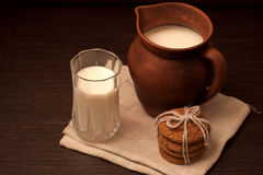Milk in pottery Royalty Free Stock Photos