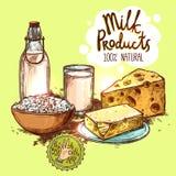 Milk Product Still Life Concept Royalty Free Stock Photos