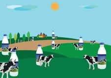 Milk production Stock Photos