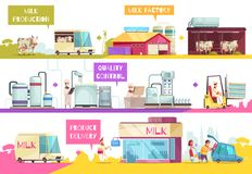 Milk Production Infographics Composition royalty free illustration