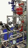 The milk production technology Royalty Free Stock Photo