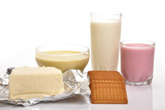 Milk products Royalty Free Stock Photos